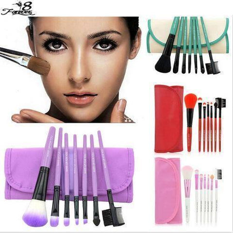 Image of 1 set  Professional Soft Cosmetic Makeup Brushes