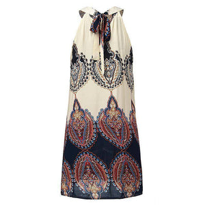 Casual Loose Boho Chiffon Dress