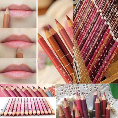12Pcs/Set Professional Waterproof Lipliner