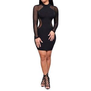 Fashion Europe Women Robe Sexy Club Dress