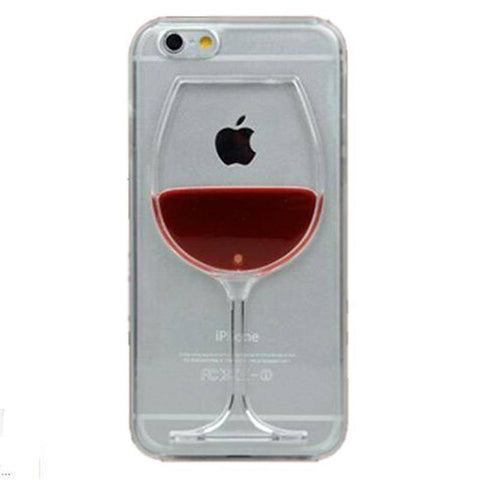 Image of For iphone 7 case red Wine Cup Liquid Transparent Case For Apple iPhone 7 7 plus 6 6S plus 5 5S 5C 4 4S Phone Cases Back Covers
