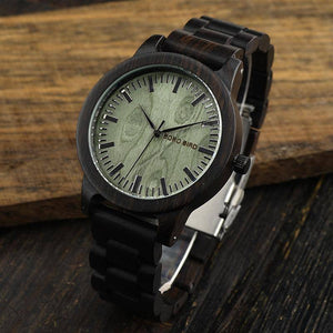 BOBO BIRD WM04 Brand Designer Ebony Wooden Watches