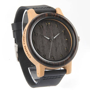 Wooden Watches Eastern Arabic Numerals Dial Face