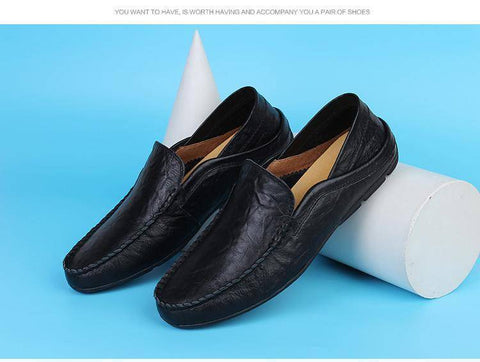 Image of Genuine Leather Flats Shoes