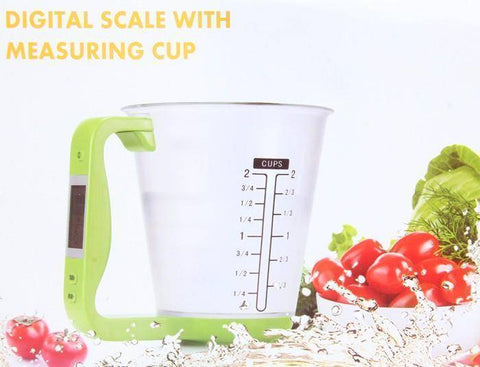 Kitchen Scales Digital Electronic Tool Scale with LCD Display Temperature Measurement Cups