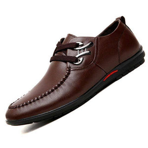 British Style Leather Male's Dress Shoes