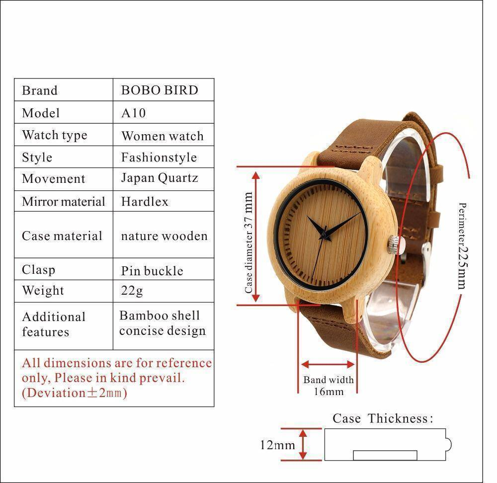 Crypto Women Watches Bamboo Wooden Watch
