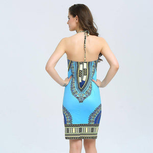African Print Bodycon Sexy Dashiki Dress