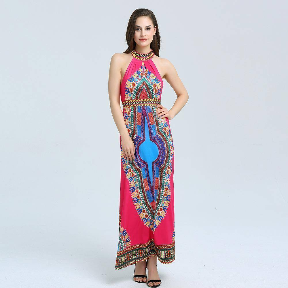 Traditional African Tribal Print  Ladies Maxi  Dress