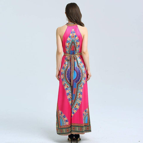 Image of Traditional African Tribal Print  Ladies Maxi  Dress