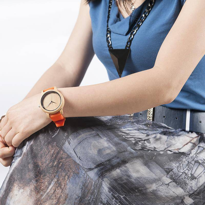 Ladies Bamboo Wood Quartz Watches