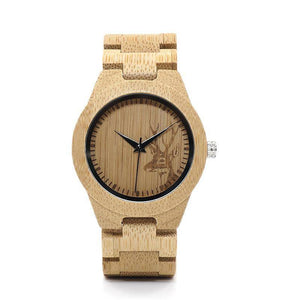 BOBO BIRD WE04 New Famous Brand Womens Deer Bamboo Wrist Watch