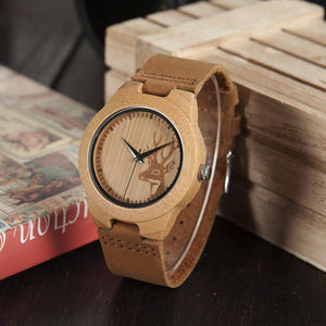 BOBO BIRD WF29 Elk Deer Styles Bamboo Wood Watches