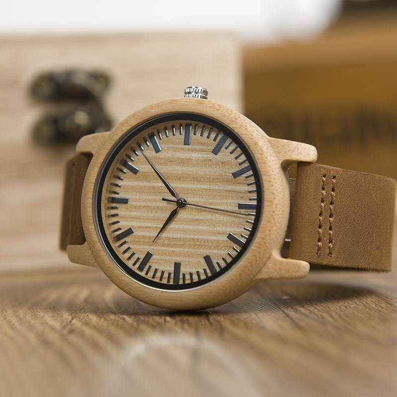 Casual Wooden Watch Men