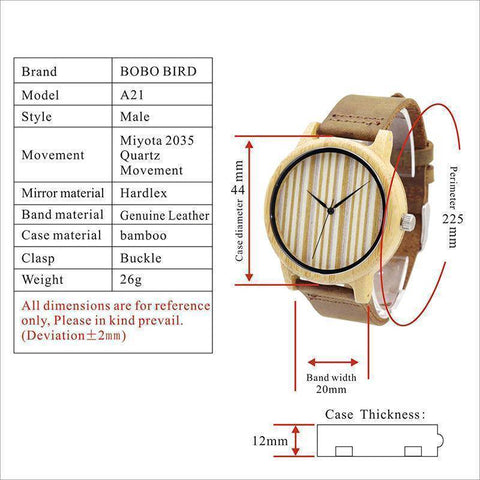 Image of Casual Wooden Watch Men