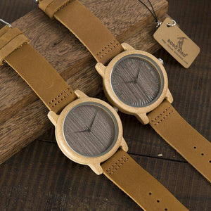 Casual Antique Round Bamboo Wooden Watch