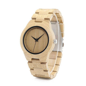 BOBO BIRD WL28 Nature Bamboo Watches Simple Wooden Dial Face Watches