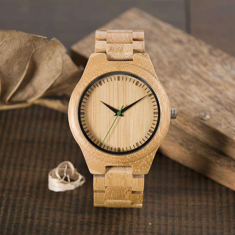 BOBO BIRD WG26 Brand Design Bamboo Band Watch
