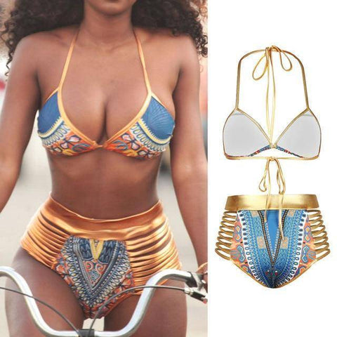 African Print Two-Piece Bikini Set