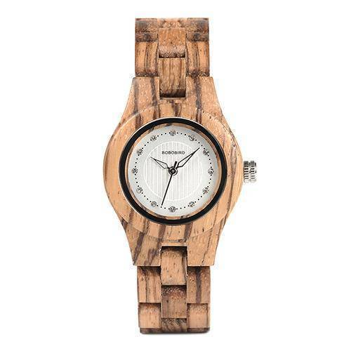 BOBO BIRD WO29 Ladies Bamboo Zebra Wooden Watch