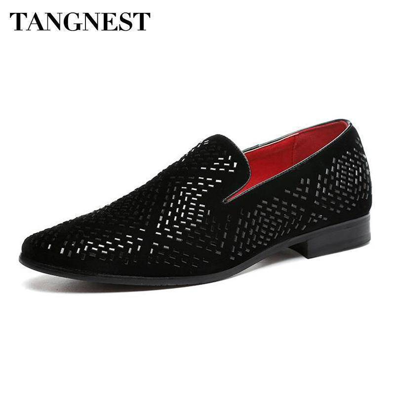 Pointed Toe Split Leather Loafers