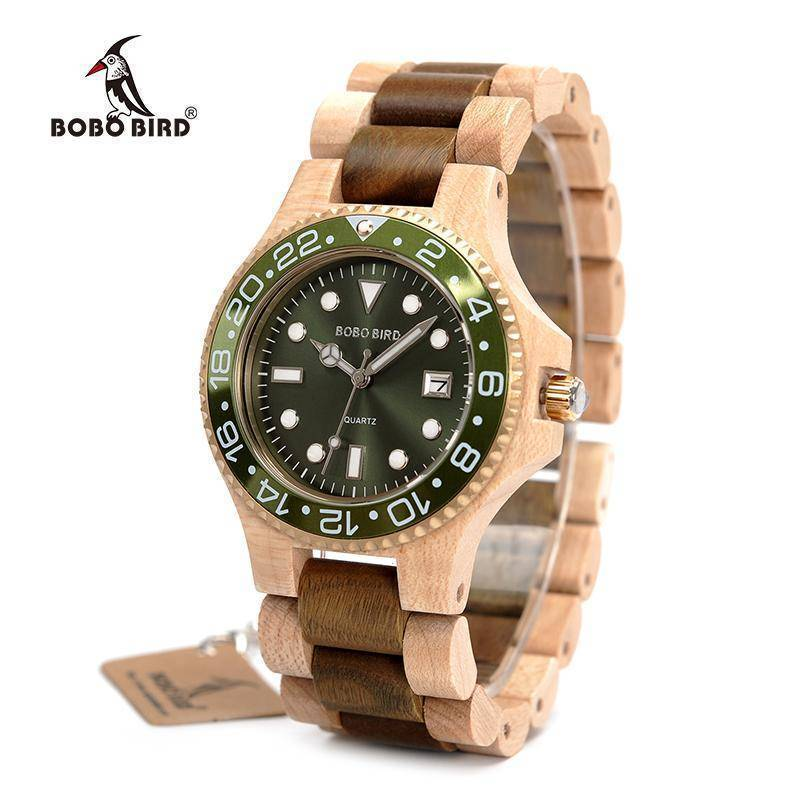 BOBO BIRD WO25 Sparkling Dial Face Wooden Quartz Watch