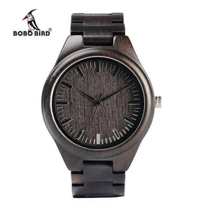 BOBO BIRD WH05 Brand Design Classic Ebony Wooden Mens Watch Full Wood Strap