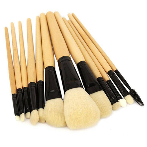 Image of Professional Makeup Brush Set 12pcs High Quality Tools Kit Violet