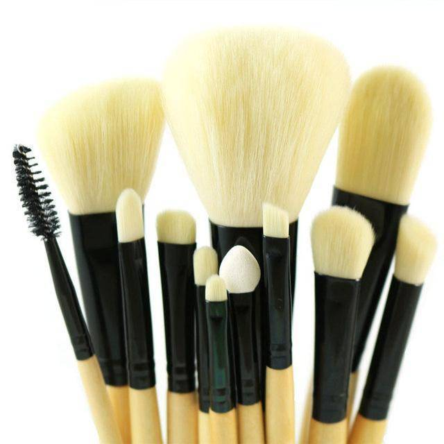 Professional Makeup Brush Set 12pcs High Quality Tools Kit Violet