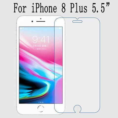 Image of High quality For iPhone X Tempered Glass Screen Protector For iPhone 6s 7 Plus 8 Screen Protector Film SE With Retail Package