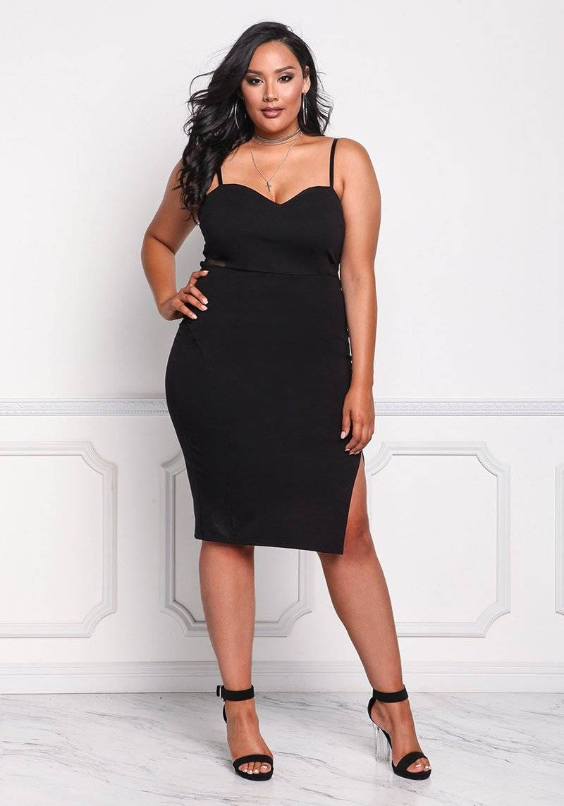 Black Sleeveless Spaghetti Strap Dress