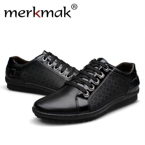 Image of Merkmak New Brand Korean Sneakers Autumn Footwear Leather Big Size 37-44