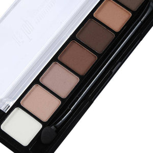 8 Earth Color Nude Makeup Eye Shadow Palette Smoky Glitter Matte Make Up Brush Tool