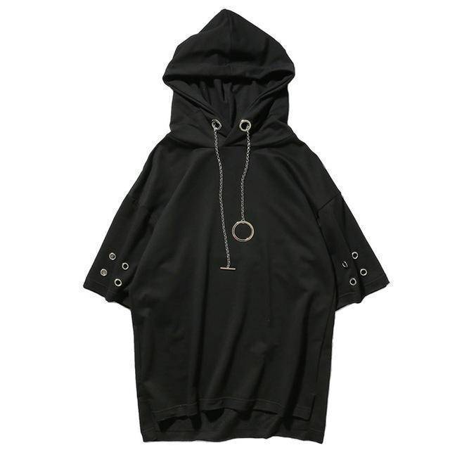 Fashion Men Chain Style Hooded T-Shirts