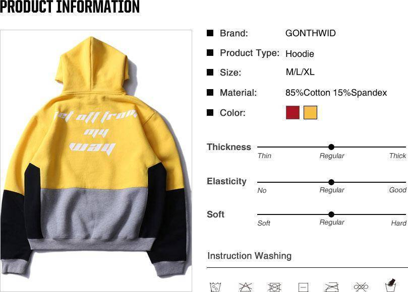 Color Block Patchwork Fleece Hoodies