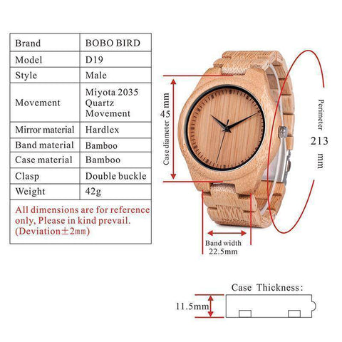 Image of BOBO BIRD WL28 Nature Bamboo Watches Simple Wooden Dial Face Watches