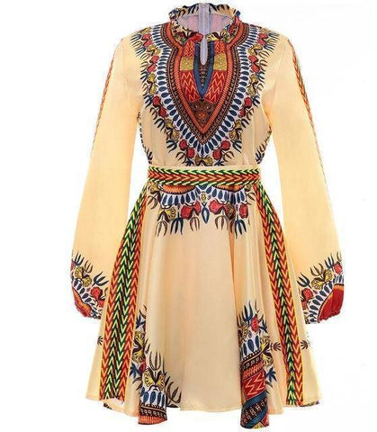 Image of Bow Belt African Dress