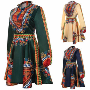 Bow Belt African Dress