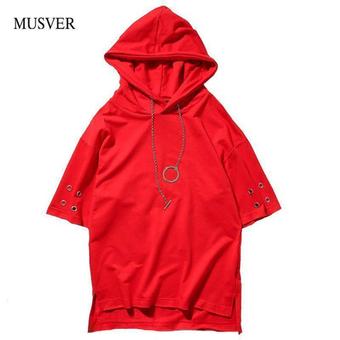 Image of Fashion Men Chain Style Hooded T-Shirts