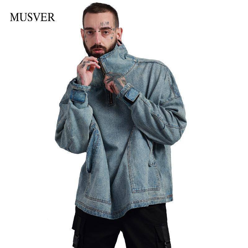 Hip Hop Oversize Denim Jacket
