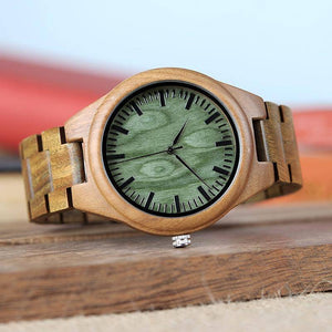 Full Wooden Quartz Watch Handmade Wristwatch