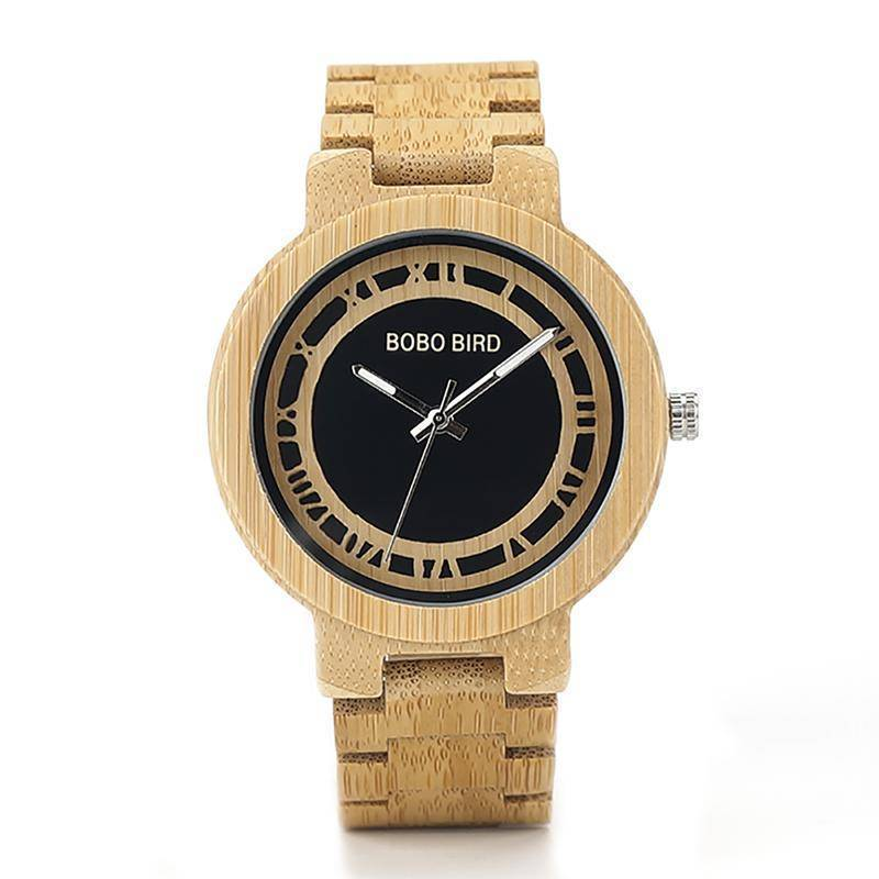 BOBO BIRD WN19 Wooden Watch Roman Digital Face