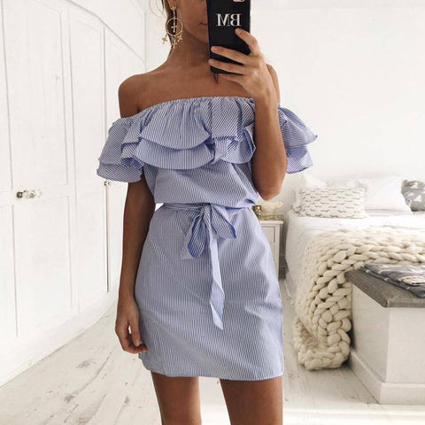 Image of Boho Strapless Mini Dress
