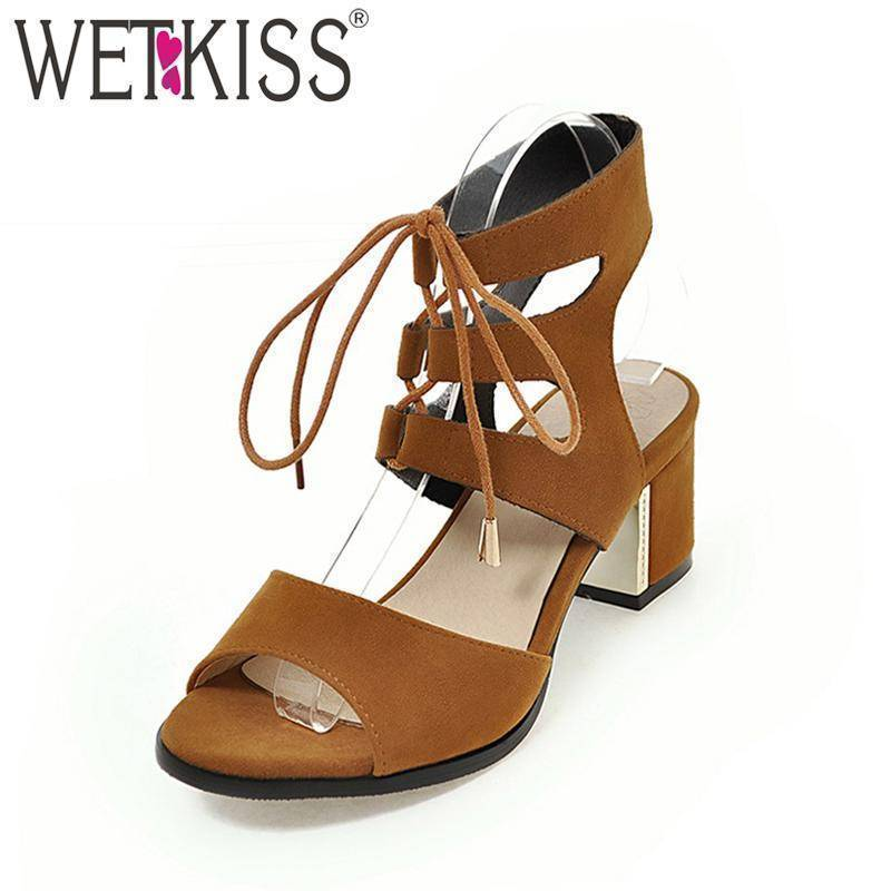 Wetkiss 2018 Super Big Size 30-48 Women Sandals