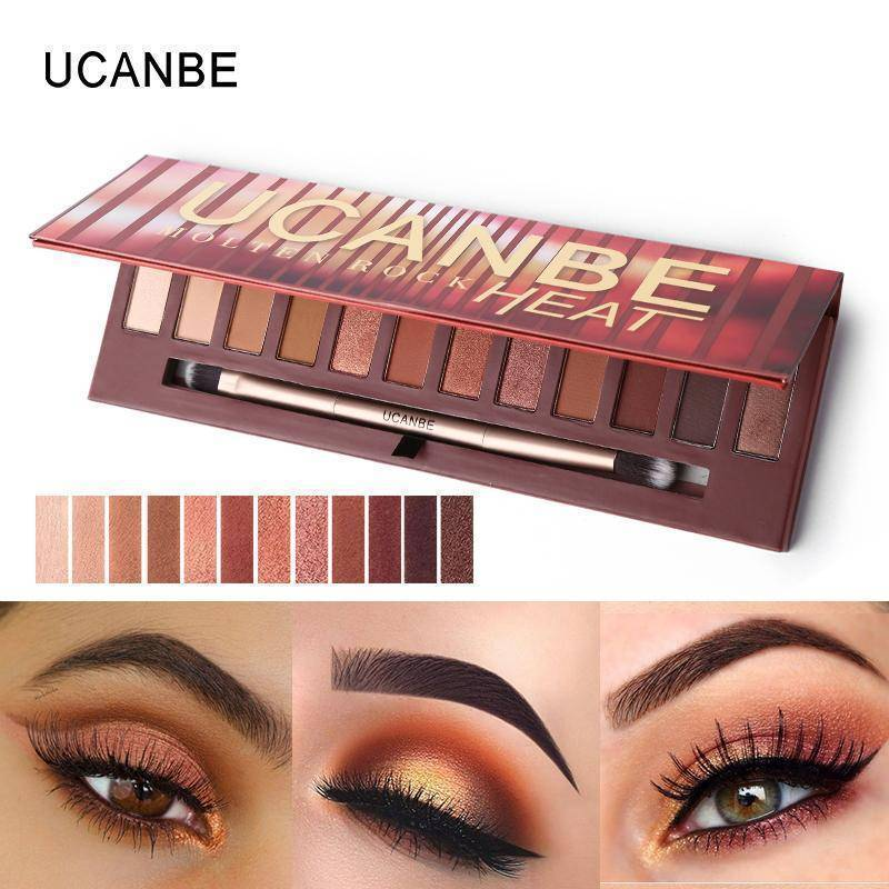 12 Colors Molten Rock Heat Eye Shadow Makeup Palette