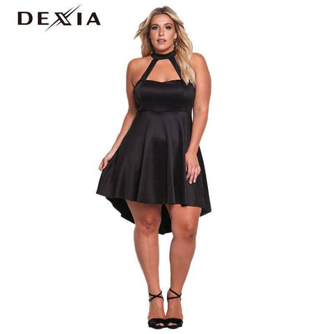 Image of Plus Size Halter Dress