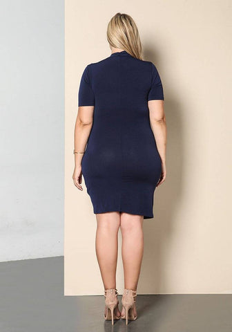 Image of Short Sleeve Solid Dresses