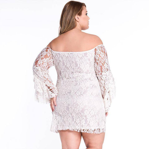 Image of White Sexy Full Sleeve Dress
