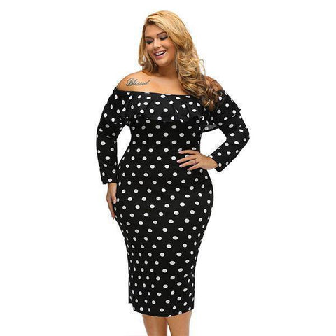 Image of Dot Pencil Party Dress