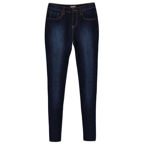 Womens Stone Washed High Waist Skinny Jeans